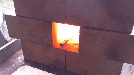 Harrow tooth in the beginning of forge work.